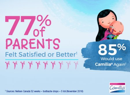 77 percent of parents felt satisfied or better - 85 percent would use Camilia again