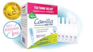 Camilia Teething Liquid Doses PTPA Winner 100% Benzocaine Free